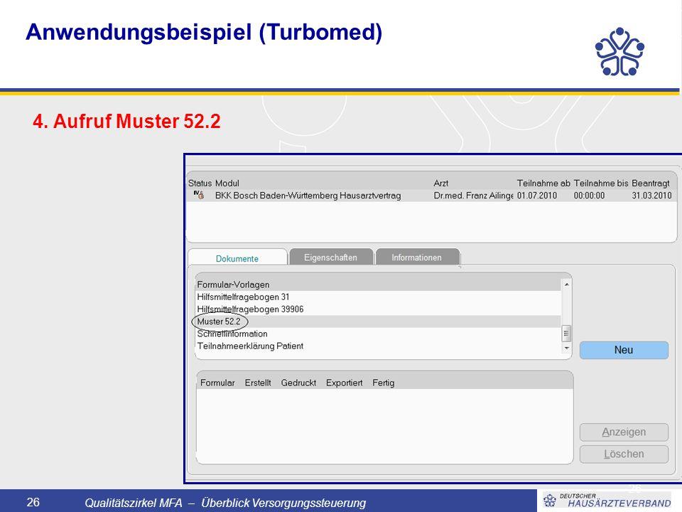 Qualitätszirkel MFA – Überblick Versorgungssteuerung 26 4.