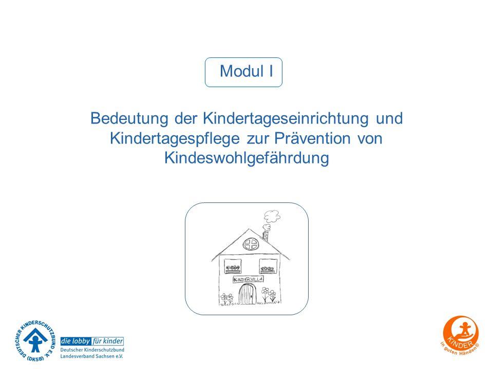 Modul I Bedeutung der Kindertageseinrichtung und Kindertagespflege zur Prävention von Kindeswohlgefährdung