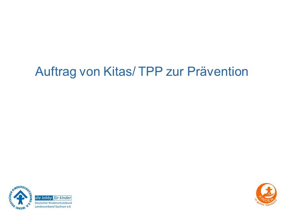Auftrag von Kitas/ TPP zur Prävention