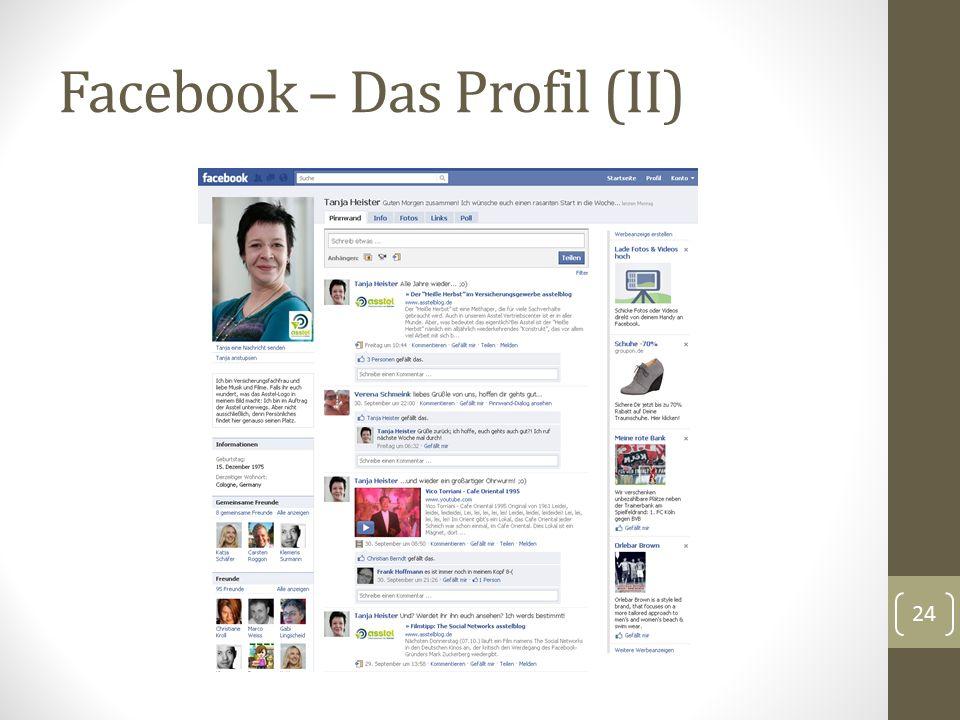 Facebook – Das Profil (II) 24