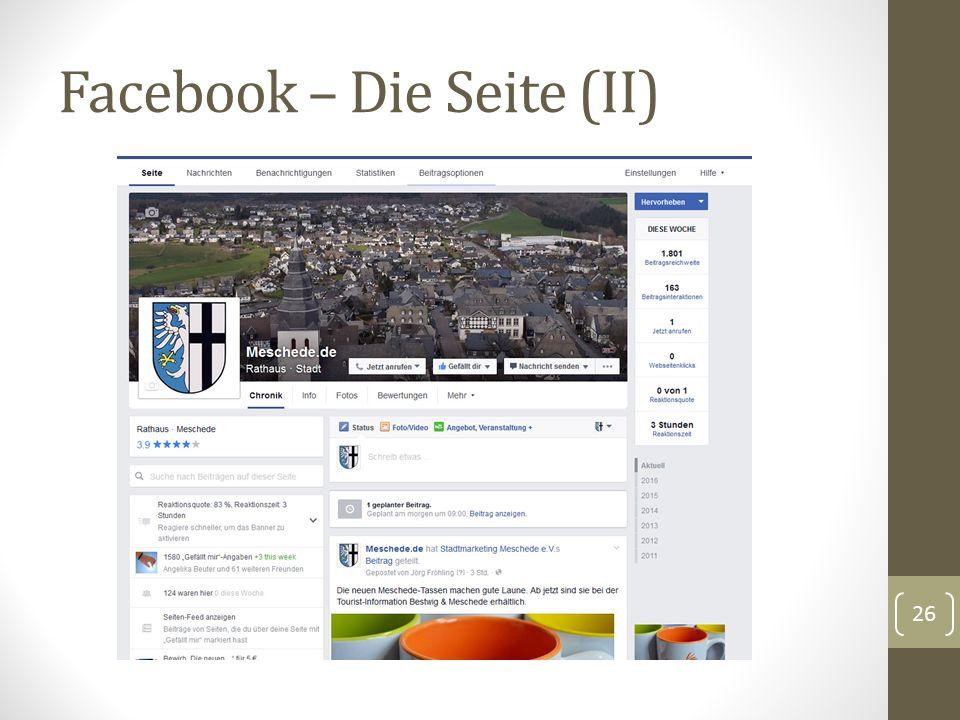 Facebook – Die Seite (II) 26