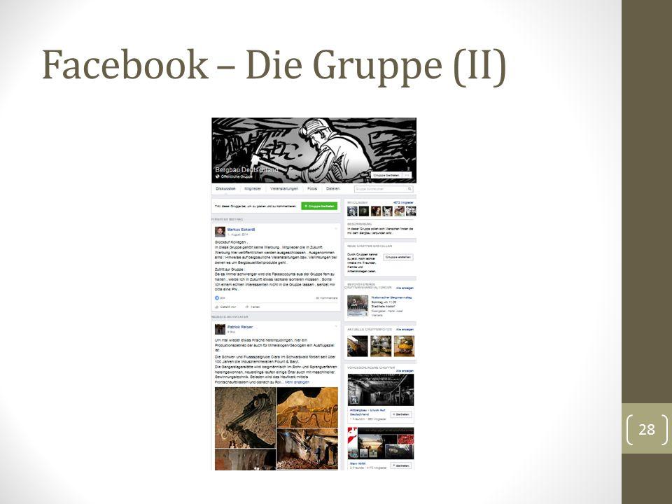 Facebook – Die Gruppe (II) 28