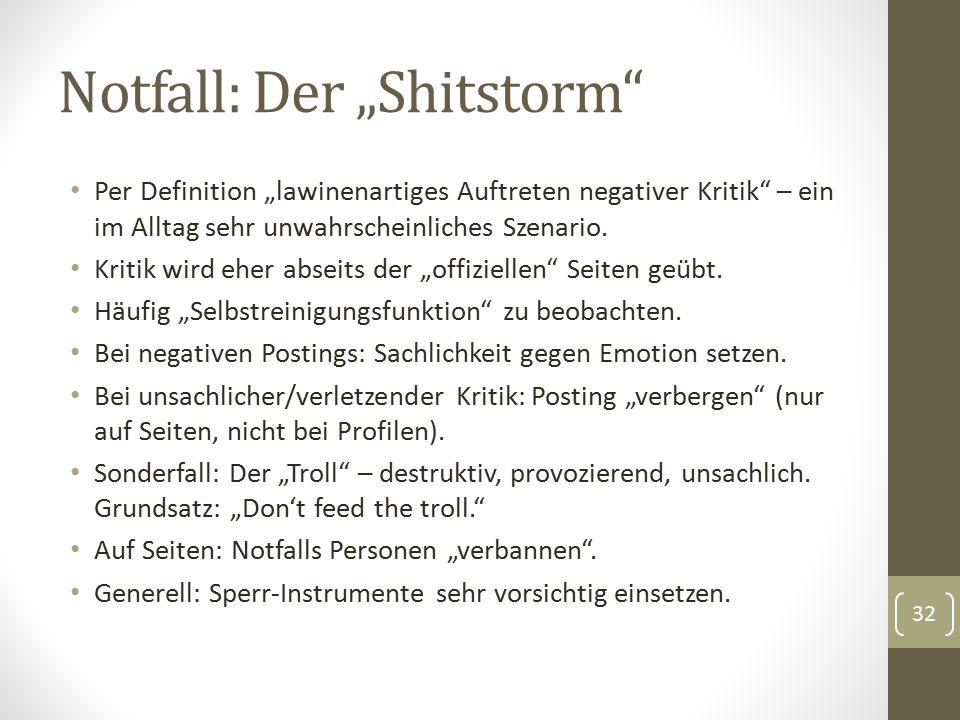 """Notfall: Der """"Shitstorm Per Definition """"lawinenartiges Auftreten negativer Kritik – ein im Alltag sehr unwahrscheinliches Szenario."""