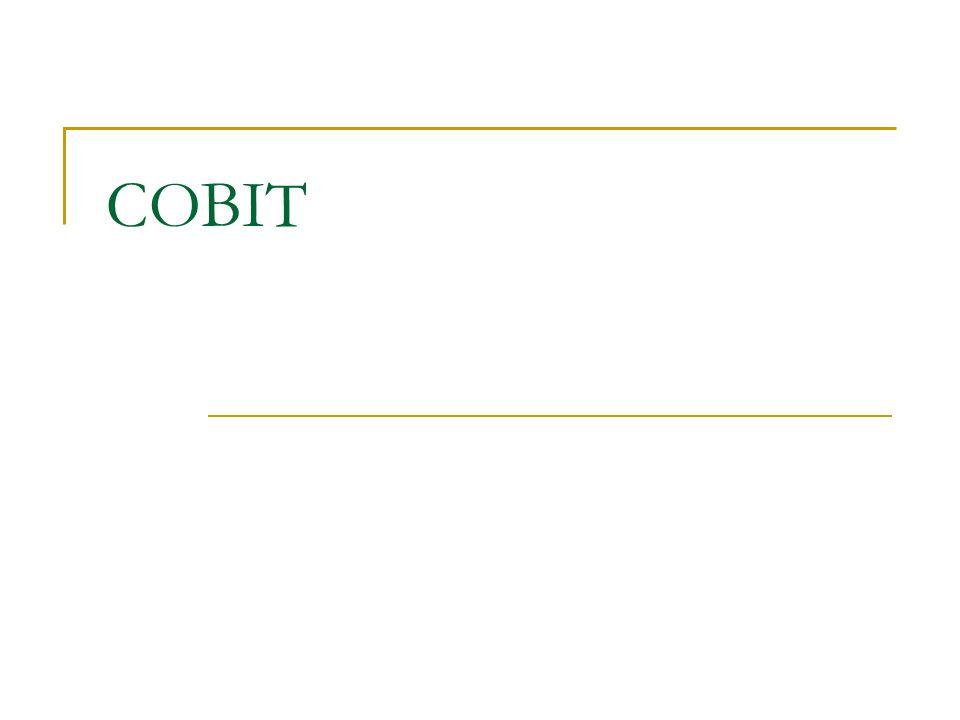 Geschäfstsprozesse  IT Domains COBIT gliedert IT-Aktivitäten in einem generischen Prozessmodell in vier Domänen (engl.: Domain).