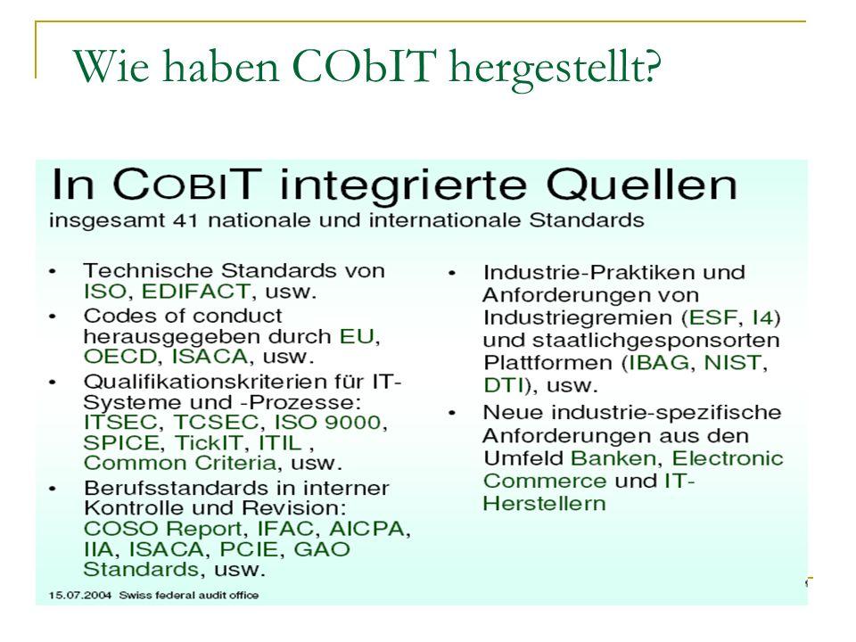 Die Quellen um CObIT herstellen