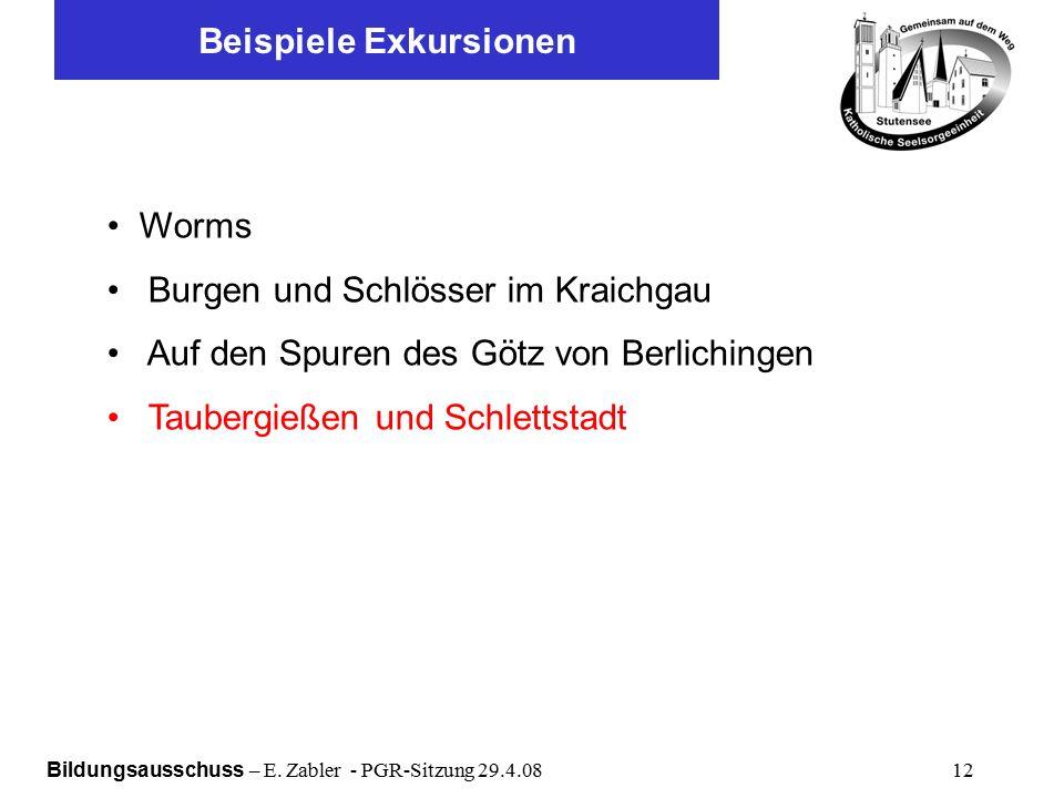 Bildungsausschuss – E.