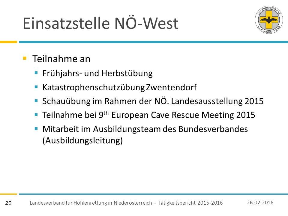 20 Einsatzstelle NÖ-West  Teilnahme an  Frühjahrs- und Herbstübung  Katastrophenschutzübung Zwentendorf  Schauübung im Rahmen der NÖ.