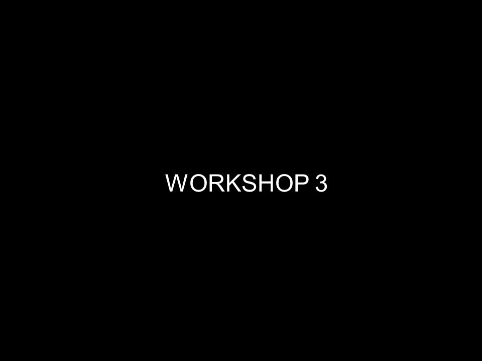 14 WORKSHOP 3