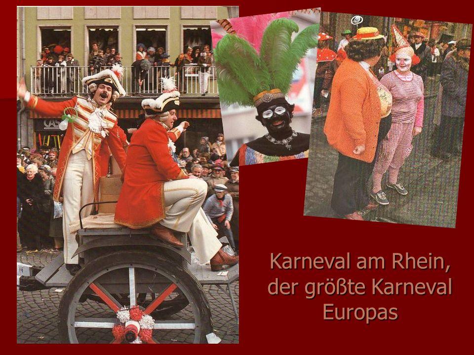 Karneval am Rhein, der größte Karneval Europas