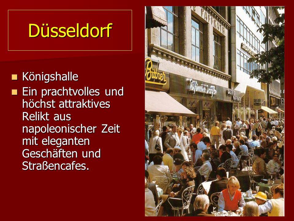 Düsseldorf Königshalle Königshalle Ein prachtvolles und höchst attraktives Relikt aus napoleonischer Zeit mit eleganten Geschäften und Straßencafes.