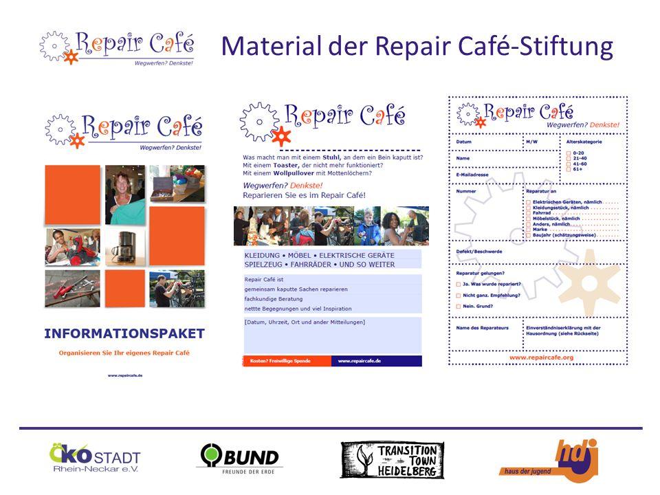 Material der Repair Café-Stiftung