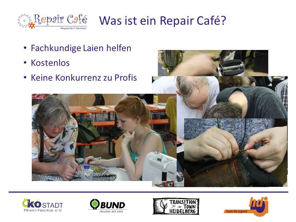 Fachkundige Laien helfen Kostenlos Keine Konkurrenz zu Profis Was ist ein Repair Café