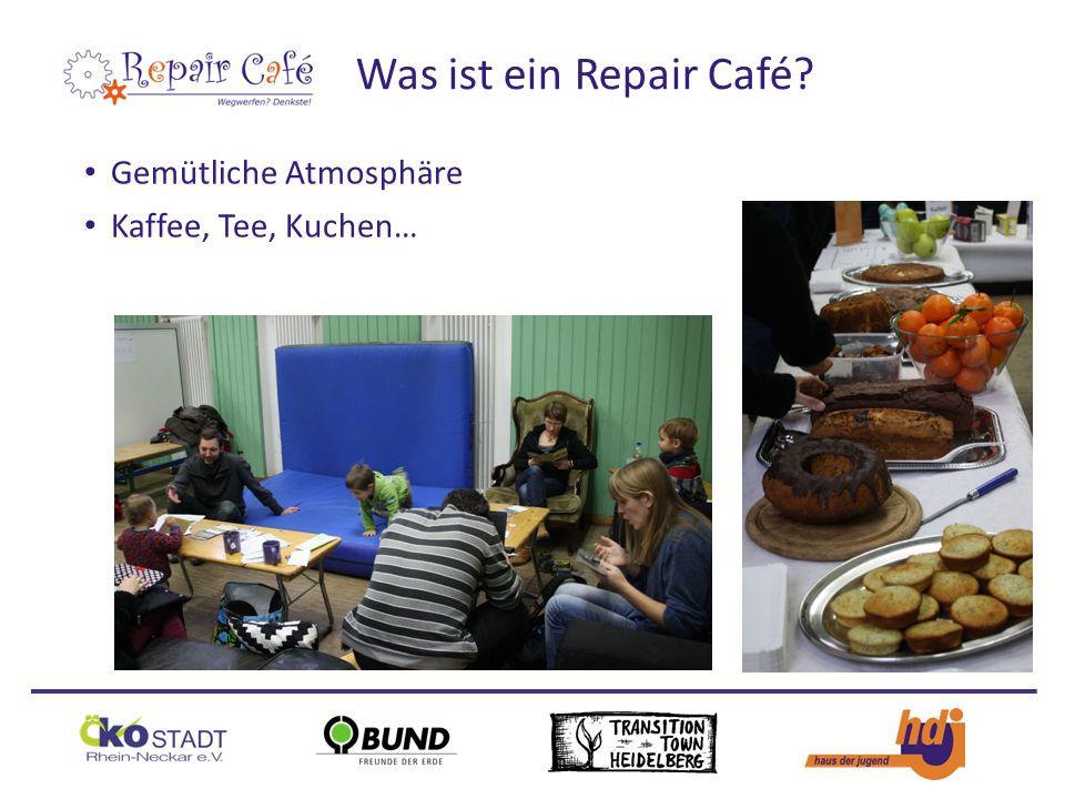 Gemütliche Atmosphäre Kaffee, Tee, Kuchen… Was ist ein Repair Café