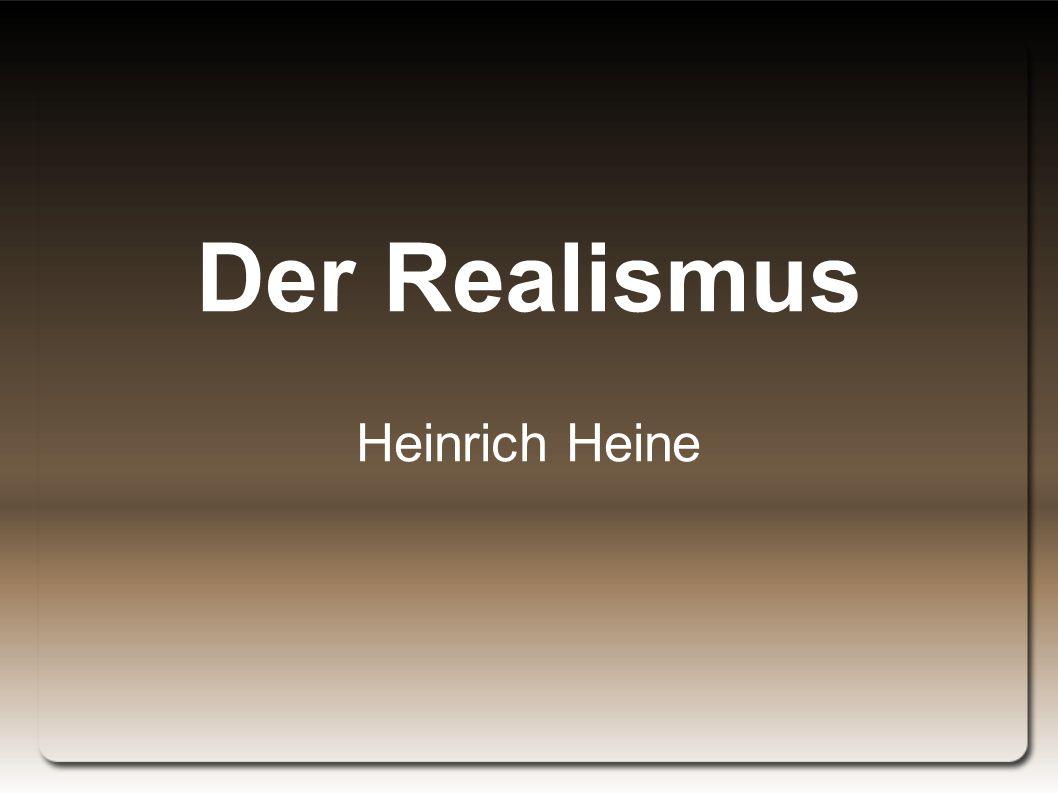 Der Realismus Heinrich Heine