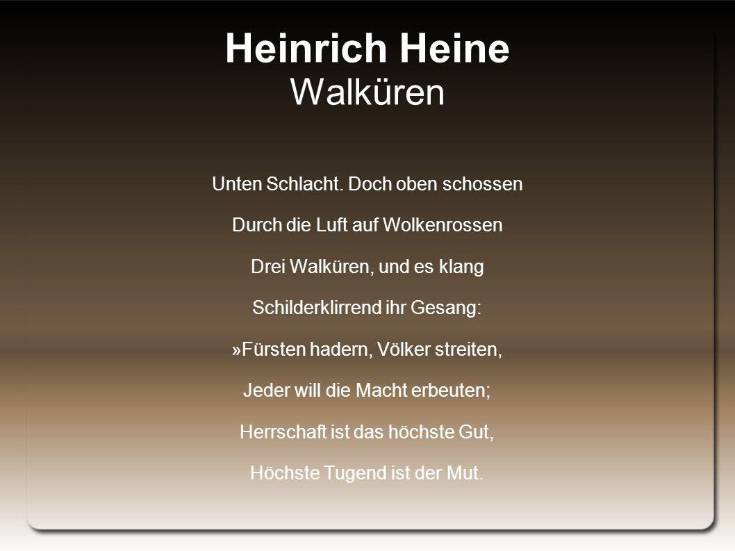 Heinrich Heine Walküren Unten Schlacht.