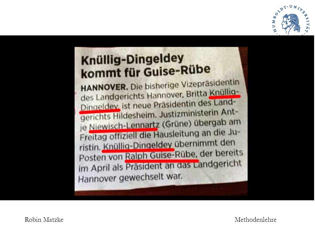 Robin MatzkeMethodenlehre Besonderheiten der Auslegung 3.