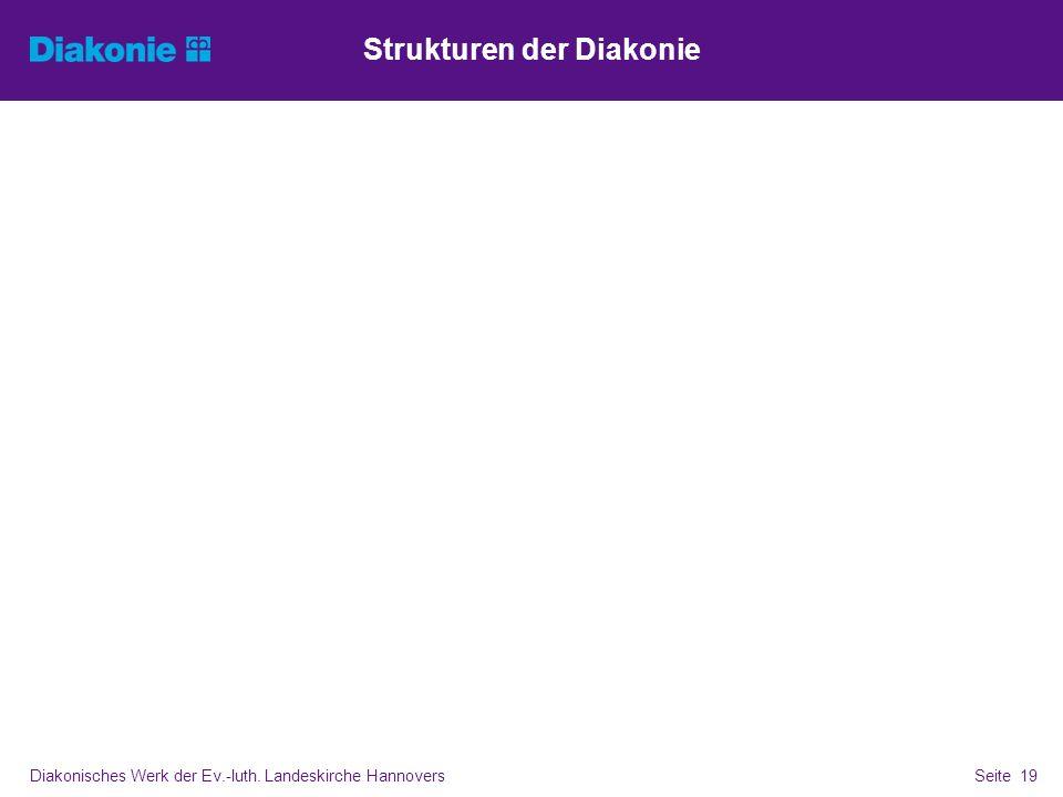 Strukturen der Diakonie Diakonisches Werk der Ev.-luth. Landeskirche Hannovers Seite 19