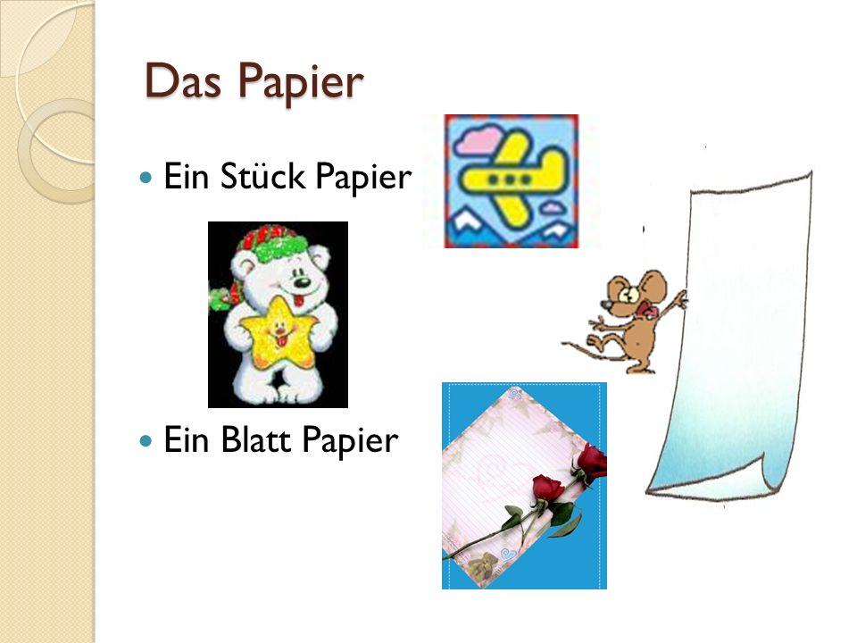 Das Papier Ein Stück Papier Ein Blatt Papier
