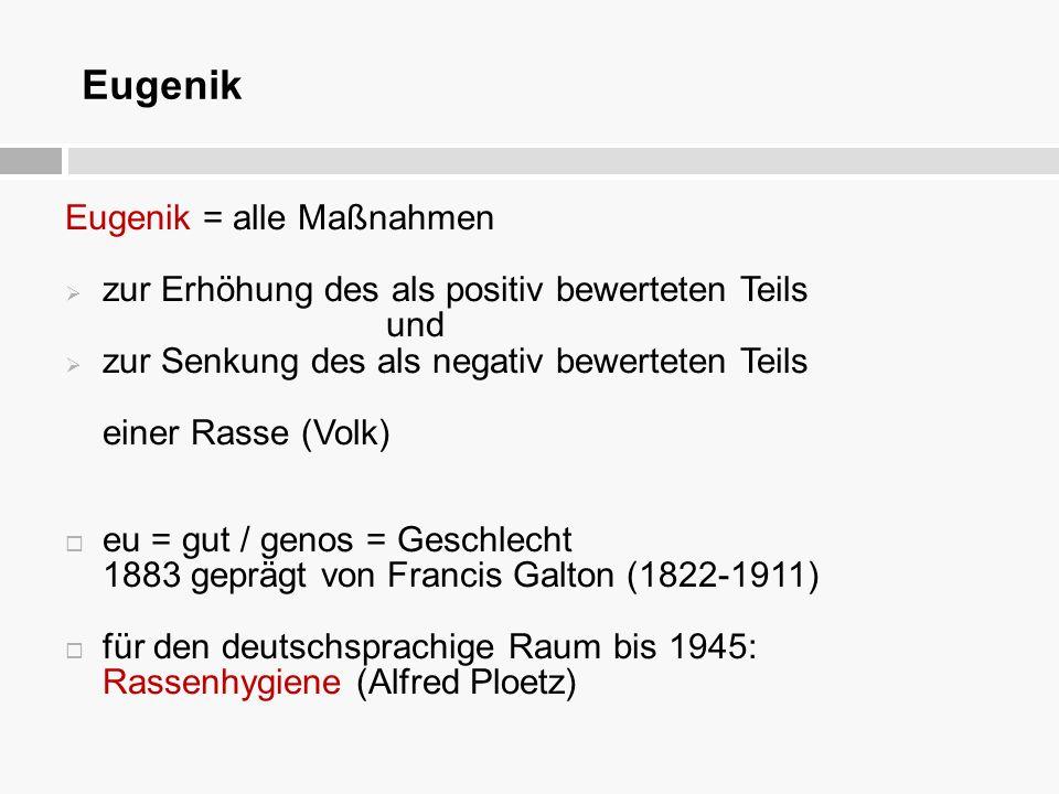 """der nationalsozialistischen Zwangssterilisation und """"Euthanasie Maßnahmen"""