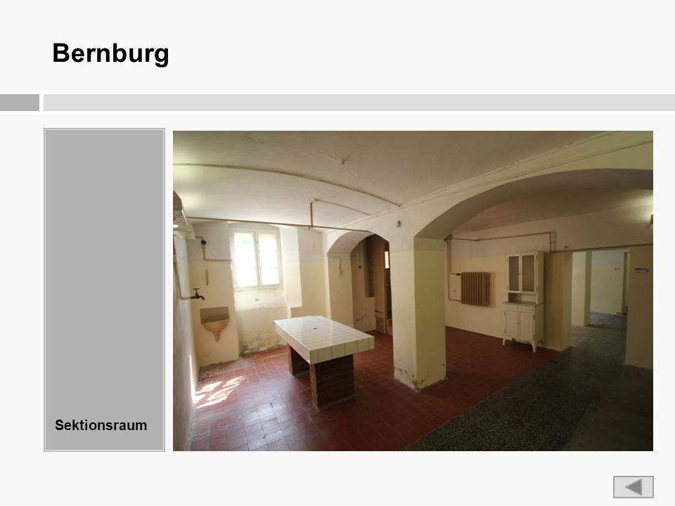 Bernburg Sektionsraum