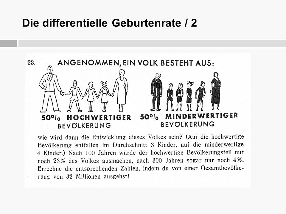 Die differentielle Geburtenrate / 3