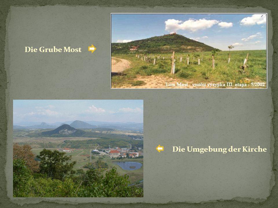 Die Grube Most Die Umgebung der Kirche