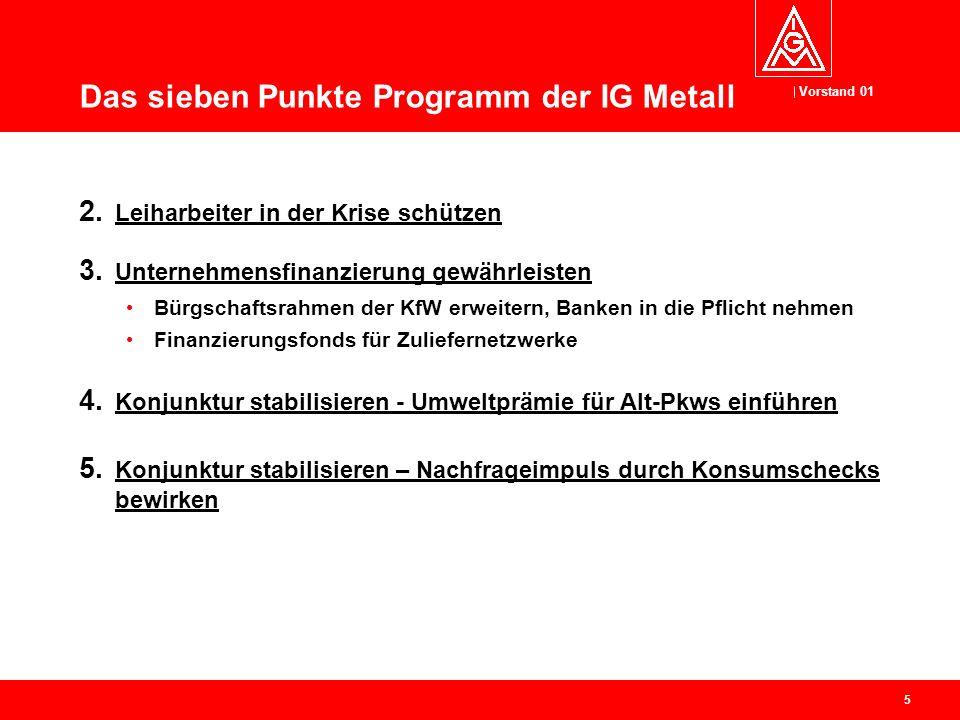 Vorstand 01 5 Das sieben Punkte Programm der IG Metall 2.