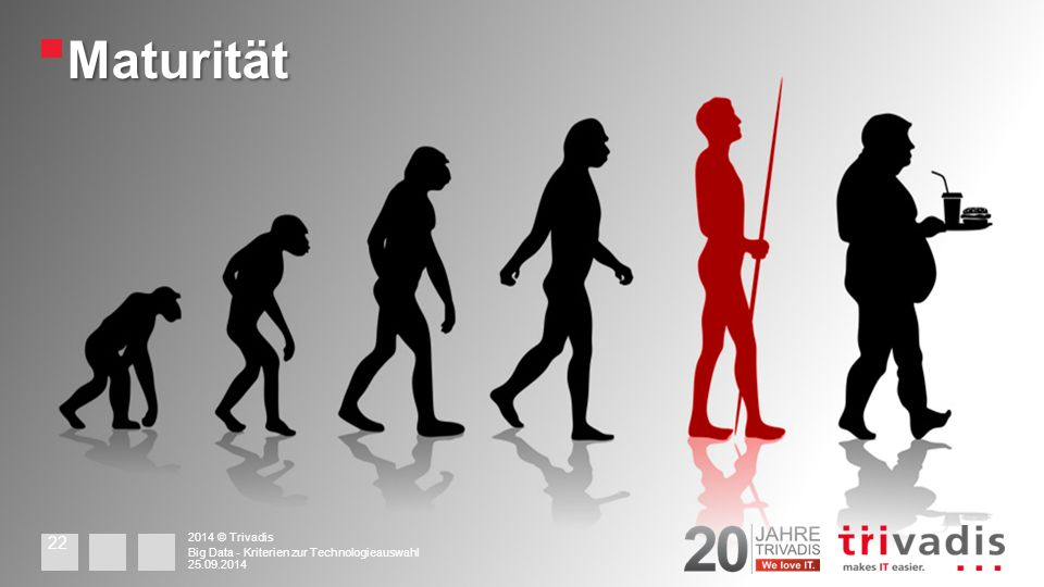 Maturität 2014 © Trivadis 25.09.2014 Big Data - Kriterien zur Technologieauswahl 22