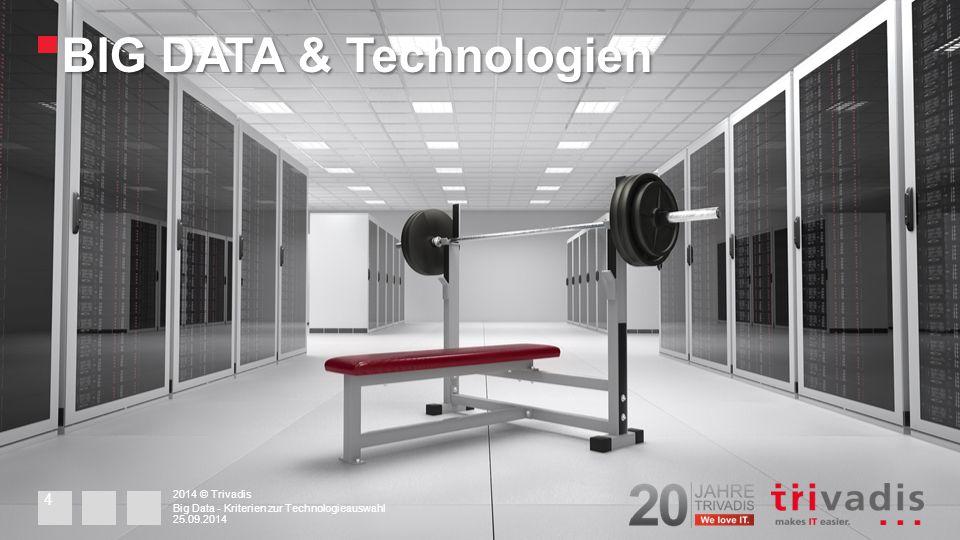 Latenz 2014 © Trivadis 25.09.2014 Big Data - Kriterien zur Technologieauswahl 15