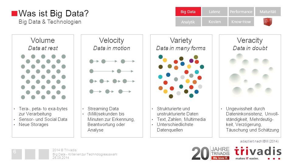 Zusammenfassung 2014 © Trivadis 25.09.2014 Big Data - Kriterien zur Technologieauswahl 37
