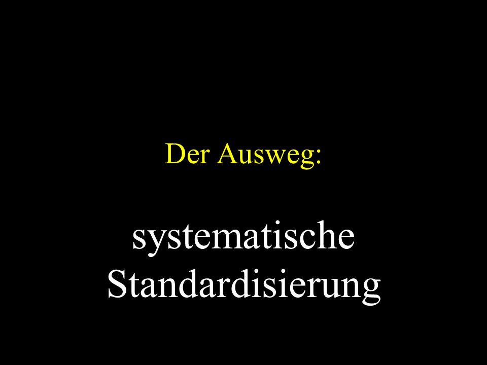 Der Ausweg: systematische Standardisierung