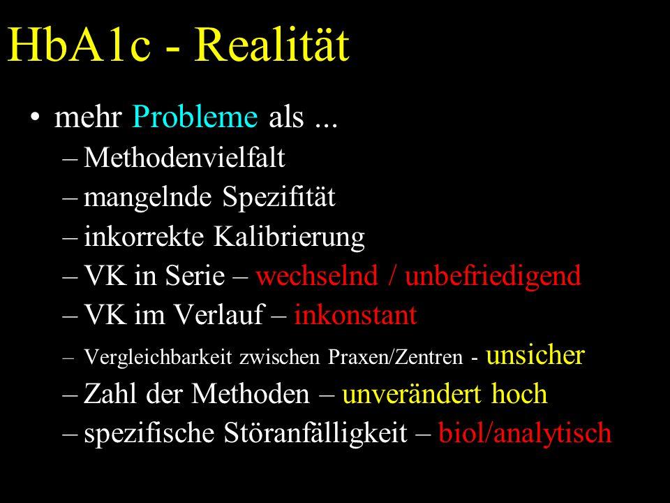 HbA1c - Realität mehr Probleme als...