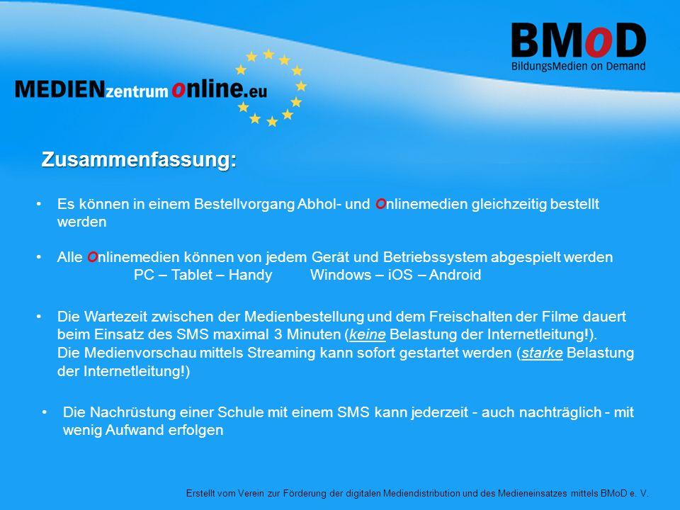 Zusammenfassung: Die Wartezeit zwischen der Medienbestellung und dem Freischalten der Filme dauert beim Einsatz des SMS maximal 3 Minuten (keine Belas