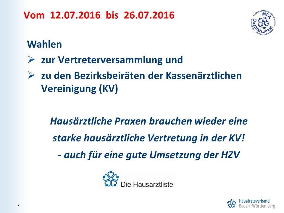 4 Wichtig ist eine hohe Beteiligung der Hausärztinnen/Hausärzte an der KV-Wahl.