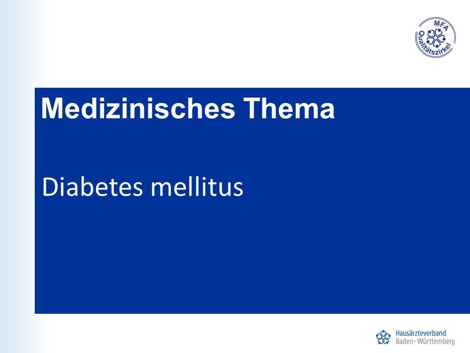 Medizinisches Thema Diabetes mellitus