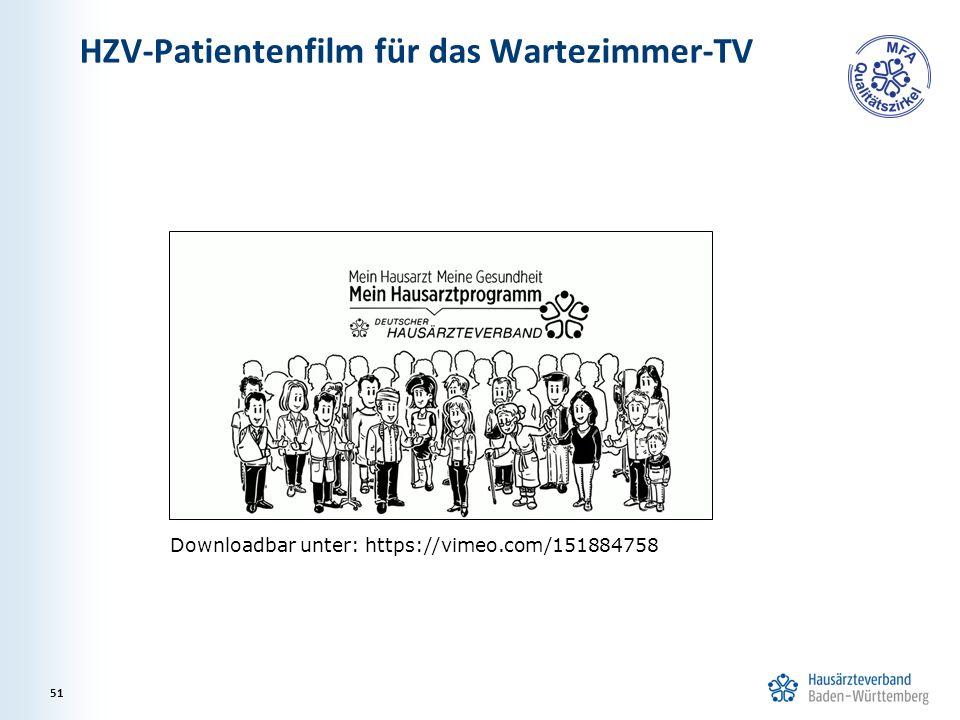 HZV-Patientenfilm für das Wartezimmer-TV 51 Downloadbar unter: https://vimeo.com/151884758