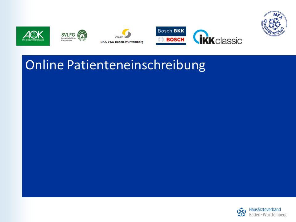 Online Patienteneinschreibung