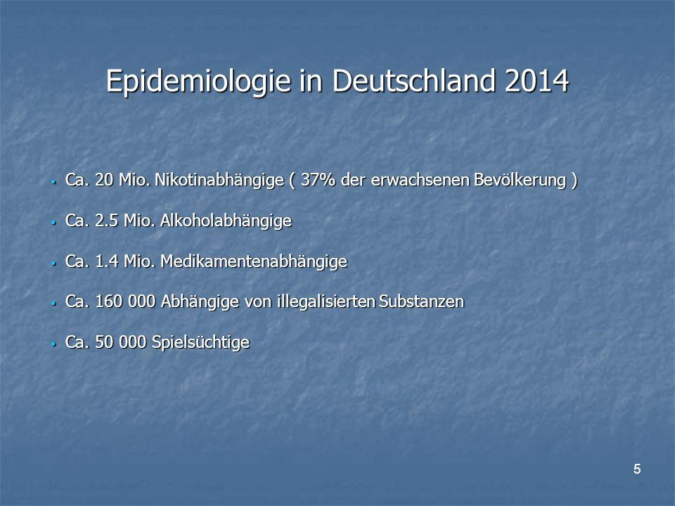 5 Epidemiologie in Deutschland 2014 Ca. 20 Mio.