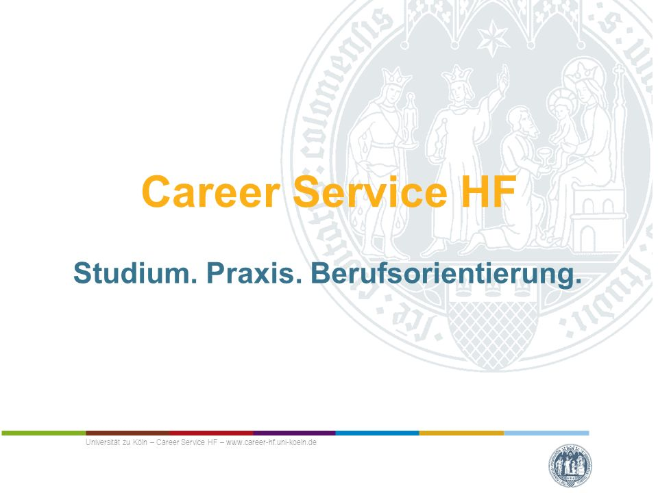 Career Service HF Studium. Praxis. Berufsorientierung.