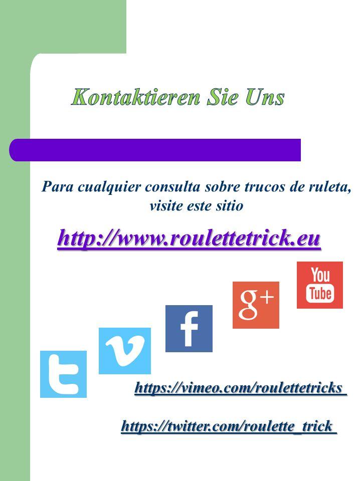 http://www.roulettetrick.eu Para cualquier consulta sobre trucos de ruleta, visite este sitio https://twitter.com/roulette_trick https://vimeo.com/roulettetricks