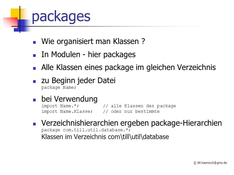 © till.haenisch@gmx.de packages Wie organisiert man Klassen .
