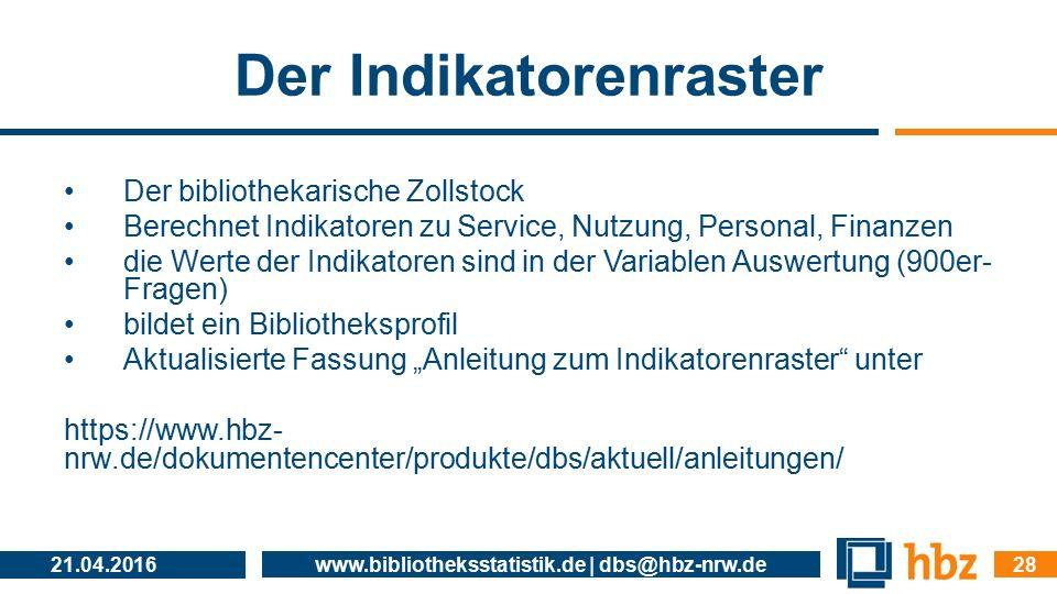 Der Indikatorenraster Der bibliothekarische Zollstock Berechnet Indikatoren zu Service, Nutzung, Personal, Finanzen die Werte der Indikatoren sind in