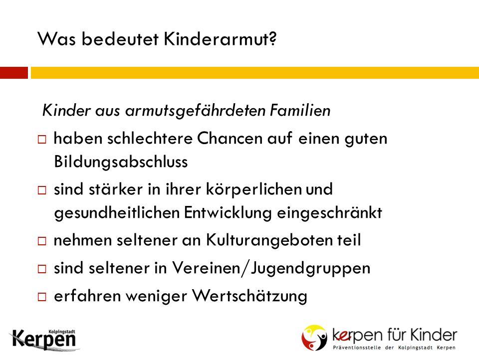 Was bedeutet Kinderarmut.