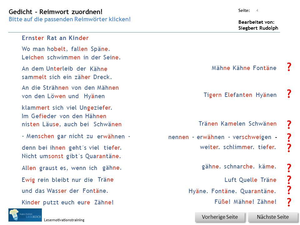 Übungsart: Seite: Bearbeitet von: Siegbert Rudolph Lesemotivationstraining Erklärung Wo liegt die Seine.