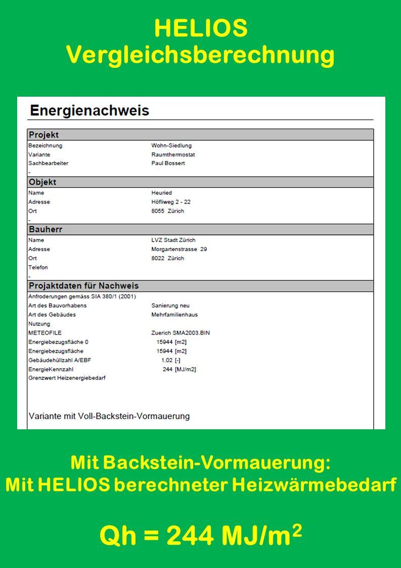 Antrag für MINERGIE-Label Vollsanierung: