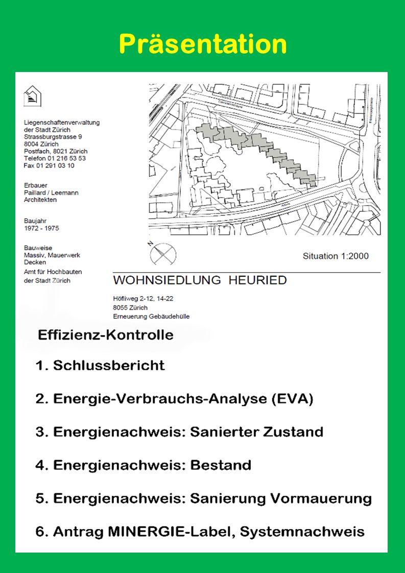Eine Präsentation Der Liegenschaftenverwaltung Stadt Zürich (LVZ) Wohnsiedlung HEURIED Zürich