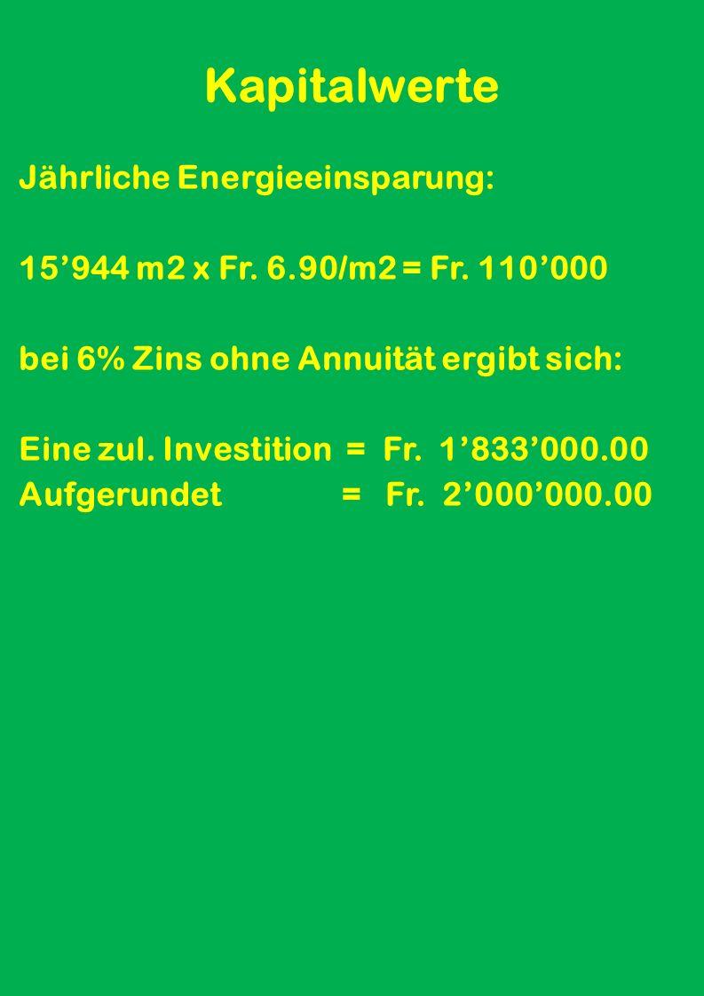 Energie-Vergleichs-Werte nach EVA und Berechnung Fazit der E-Verbr.