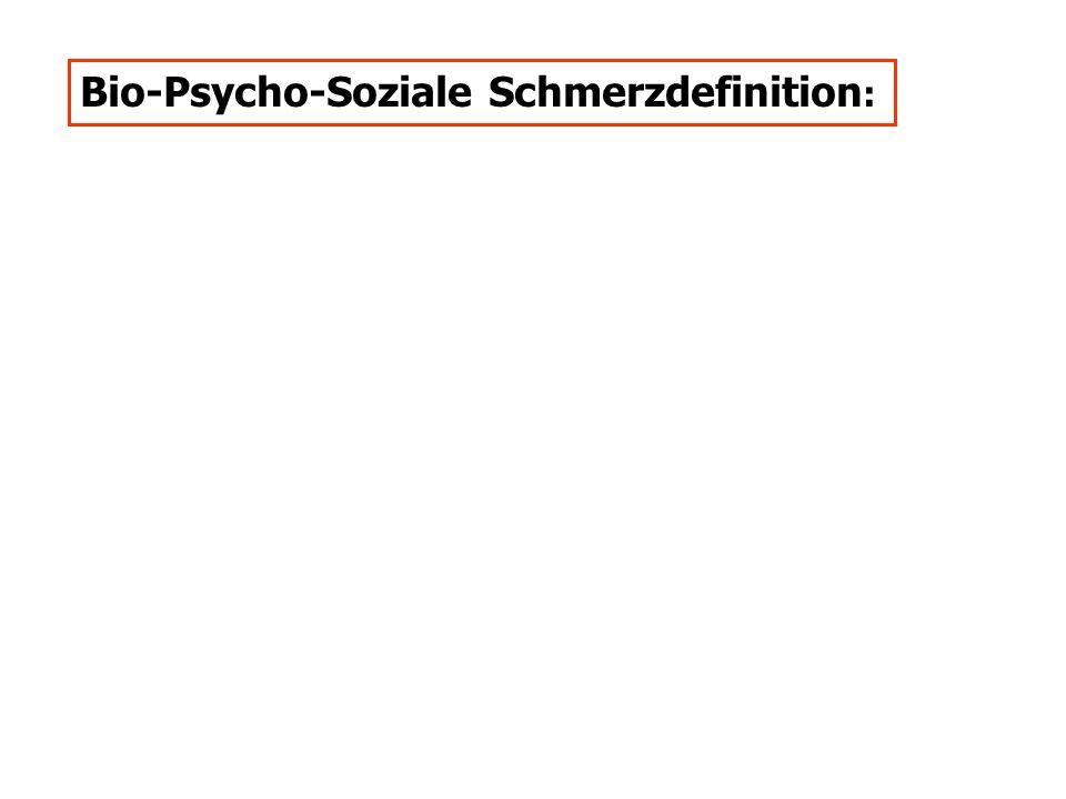 Bio-Psycho-Soziale Schmerzdefinition :