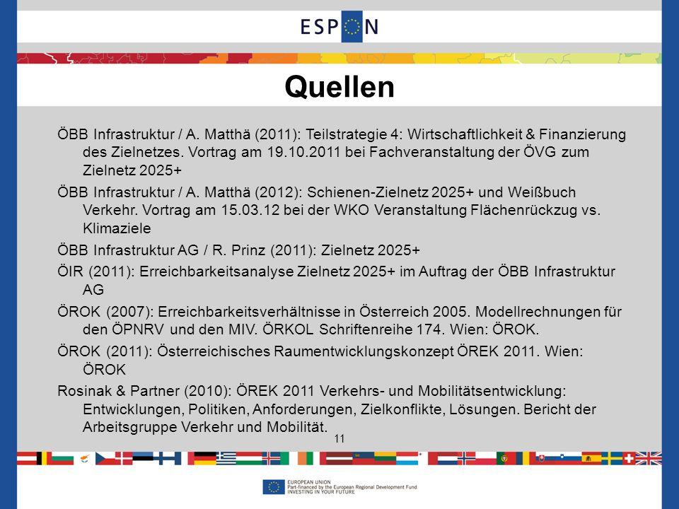 ÖBB Infrastruktur / A. Matthä (2011): Teilstrategie 4: Wirtschaftlichkeit & Finanzierung des Zielnetzes. Vortrag am 19.10.2011 bei Fachveranstaltung d
