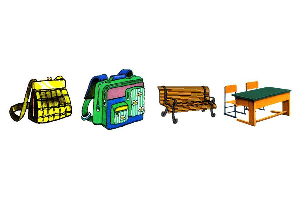 die Tasche die Schultasche die Bank die Schulbank